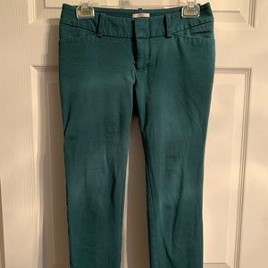 Emerald green pixie style pants